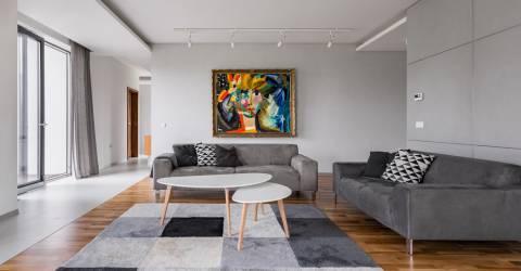 Kunst in woonkamer
